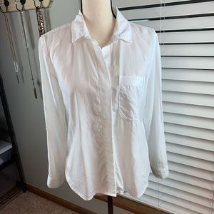Anthropology Cloth & Stone white top size PS